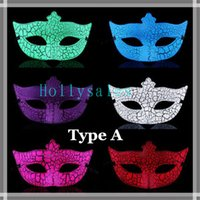 Wholesale 2015 New fashion mask dance party mask crack mask for masquerade balls half face mask with crackle pattern DHL
