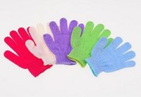 Wholesale 50pcs Factory price Exfoliating Bath Glove Five fingers Bath Gloves Bathing exfoliated Cleaner Cleaning Bathe