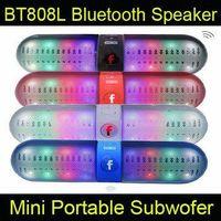 Cheap New BT808L Speaker Wireless Mini Bluetooth Speaker LED light Hands-free support speaker Stereo Music Player for iphone samsung S6 DHL OM-XL7