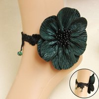 Wholesale Flower Bridal Sandals Anklets High Quality Bohemia Wedding Bridesmaid Foot Chain Beach Wedding Boho Style Foot Accessories