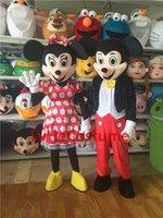 Carácter Mickey Minne la mascota del traje clásico de la historieta del vestido de carnaval divertido animal profesional del traje hecho a medida del envío libre oscuro de ratón