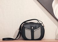 Wholesale P04 bicolor patchwork Women lady girl messenger bag crossbody sling bag flaps