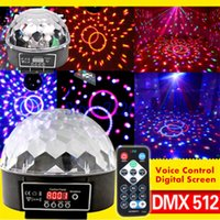 auto projector screen - DMX512 Color LED Magic Ball Light Mini Christmas Laser Projector Voice Control Digital Screen Disco Lights for Stage DJ KTV