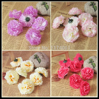 artificial carnations - 100piece cm Carnation flower head small artificial flowers silk flower home decoration for DIY bouquet