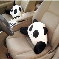 big red panda - 1 pc Panda Big Eyes Car Waist Pillow Seat Back Cushion Lumbar Car Pillow Plush Toy