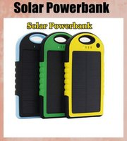 solar flashlight - solar power bank portable waterproof Panel Shockproof mobile solar phone charger with dual usb ports Flashlight for CellPhone Laptop OTH013