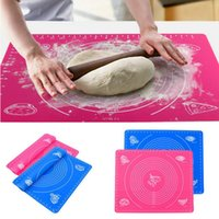 Wholesale Hot pc Silicone Roll Cut Mat Rolling Cutting Pad Fondant Cake Dough Decorating Tool New Fashion