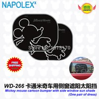Wholesale Car Accessories Mickey mouse cartoon bumper with side window sunshade WD