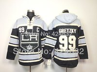 angeles clothing - Factory Outlet NHL Los Angeles Kings Wayne Gretzky Black C Patch Old Time Hockey LA Hoodie Hoodies Ice Hockey Clothes