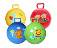 Wholesale 1pc Inflatable Bouncing Ball Sport Toy Colorful Cartoon Animal Educational Toy Ball for Baby Ball Toy