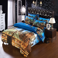 bedding canada - SET Modern Unique city duvet cover super king size bedding sets for USA CANADA king bed d city quilt cover bedsheet