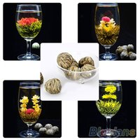 Wholesale 4 Balls Chinese Artisan Different Handmade Blooming Flower Green Tea M3 WB