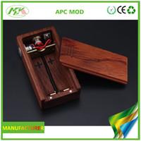 Wholesale New Arrival original APC wood box mod APC mod vs ABS mod with battery Vape Mod e cigarette Electronic Cigarette DHL Free