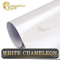 adhesive aluminum sheet - 2015 New Arrival quot x21 yds with air drain Removable Self adhesive Pearl White Car Vinyl Wrap
