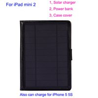 Wholesale 6600mAh in solar charger for iPad mini solar power bank portable solar battery case cover for iPad mini