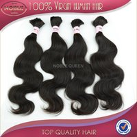 bulk hair extensions - Virgin Peruvian Hair Bulk Body Wave Human Braiding Hair Extension inch inch Bundles AAAAA Grade Hair no weft for micro braids