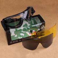 Wholesale New Hotsale USMC Airsoft X800 Tactical Sunglasses Glasses Goggles GX1000 Black Lens