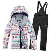 Wholesale Fashion women s ski suit snowboard Female winter tourism suit large size women s skiing clothes free direct delivery