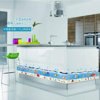 beauty pvc decal - Wall stickers home decoration The new submarine beauty little fish nursery bathroom baseboard three generations of removable wall stickers d