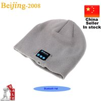Wholesale Newest Soft Warm Beanie Bluetooth Music Hat Cap with Stereo Headphone Headset Speaker Wireless Mic Hands free Microphone