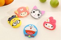 Wholesale 6 styles Despicable me doraemon cartoon Fridge Magnets Creative lovely refrigerator magnet Three dimensional soft rubber fridge magnets
