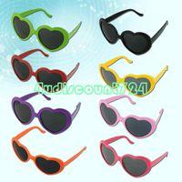 Wholesale New Fashion Lady Heart Shaped Stylish Trendy Sun Glasses Sunglasses Eyewear For Party Beach EQZ289