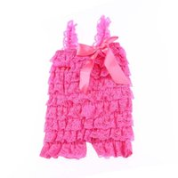 petti romper - Stock Solid Colors Baby Lace Romper Petti Girl Lace Romper Newborn And Infant Jumpsuit Children Clothes
