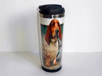 basset hound gifts - New Basset Hound Dog Diy Creative Coffee Cup Travel Water Cup Stainless Steel Cup ML OZ CM Gift