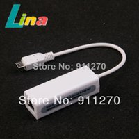 Wholesale Micro P Mini USB Plug Ethernet Adapter MB RJ45 LAN Network Cable Card for Windows XP Vista Win7 Macbook