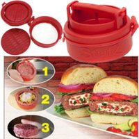 bbq hamburgers - Stufz Stuffed Burger Press Hamburger Grill BBQ Patty Maker Juicy Multi functional Kitchen Supplies With Logo Packing
