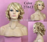 Wholesale Synthetic hair Best Selling Cheap Fashion Kanekalon wigs blonde wigs for african americans color