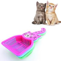Wholesale Super Quality Cat Dog Pet Poop Plastic Scoop Sieve Litter Animals Wastes Cleaning Product G01184