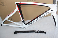 bikes - 2015 carbon road frame T1000 white red carbon road bike frame frameset glossy finish Carbon fiber bicycle frame BB68 BB30 complete road bike