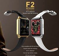 e cigarete bottles heart rate monitor watch - F2 Smart Watch MTK2502 Dynamic Heart Rate Monitoring D Arc Touch Screen Bluetooth Watch Phone for IOS Android IP67 Waterproof Smartwatch