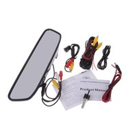 Wholesale Universal quot Car Auto Rear View Mirror Monitor Car Reversing Kit CCD Back Up Camera degree Wide Angle