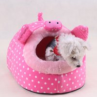 Wholesale Kennel Pet Supplies Thick Warm Doghouse Dog Beds Styles S M