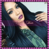 silk top full lace wigs - Factory Price Silk Straight Brazilian human hair glueless full lace wig silk top lace wig all length for black women