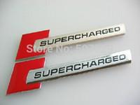 aluminum range rover - Exterior Accessories Car Stickers Aluminum Auto SUPERCHARGED for Range Rover Sport Emblem Decal Badge Sticker