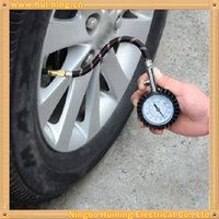 Wholesale Mechanical psi metal tire pressure gauge for auto tyre with correcting switch
