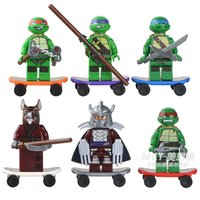 Wholesale Teenage Mutant Ninja Turtles Minifigure Building Blocks Sets Figure DIY Bricks Toys For Children