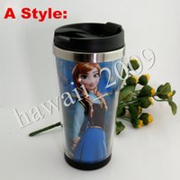 Wholesale Fast DHL Frozen Cartoon drinking watter bottle Starbucks Coffee Cup Water Cups Movie Starbucks Tumblers Accompanied Cups With many Styles