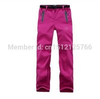 Wholesale 2014 women s outdoor sports pants pants waterproof windproof soft shell pants outdoors hiking camping mountaineering