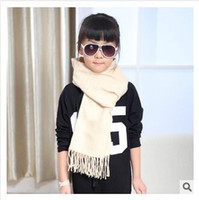 Wholesale 20 colors Grid Scarf for Children Plaid Scarf Tassel Tartan Imitation of cashmer Winter Scarf Blanket Scarves Red Warm Wrap Kids Newest
