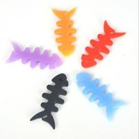 Wholesale High quality Fish Bone Earphone Cable holder Winder Organizer For MP4 MP3 iPhone