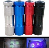 Cheap Mini 9 LED Torch 385~400Lm Ultra Violet UV Flashlight Lamp Torch Light waterproof 240X dhl free