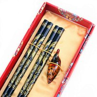 abroad shipping - Gift chopsticks business gift chinese dragon style wood wedding gift abroad gift pairs wood chopsticks