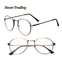 big nerd glasses - Big Metal Frame Mens Womens Nerd Glasses Clear Lens Eyewear Unisex Retro Eyeglasses Spectacles