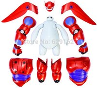 Wholesale Hot Sale Removable Armor Deformable Big Hero New Deformable Robot Baymax Children s Action Toy Figures Holiday Gift A3