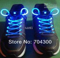 Wholesale Flashing LED shoe laces Party supplies colors