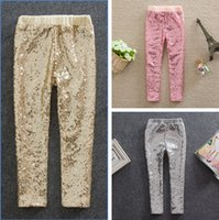 childrens leggings - 2015 Childrens Clothing Girl Pants New Arrive Girls Sequins Leggings Toddler high grade Legging Y Baby Kids Leggings